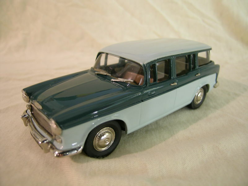 LANSDOWNE MODELS LDM 50 HUMBER HAWK ESTATE 1957 COLOUR TWO TONE GREEN+BOX 1 43