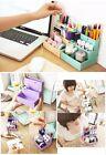 Fashion Paper Board Storage Box Desk Decor Stationery Makeup Cosmetic Organizer