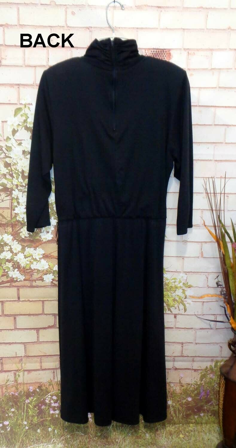 Black Long Sleeve Dress size M Pre-Owned