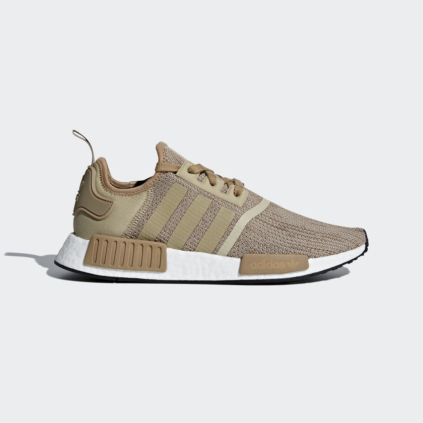 Adidas Men's Originals NMD R1 NEW AUTHENTIC Brown/Raw Gold B79760 New shoes for men and women, limited time discount