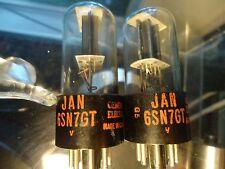 GENERAL ELECTRIC 6SN7GT TV-7 TESTED STRONG BLACK PLATE VINTAGE VALVES TUBES