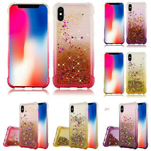 For-Apple-iPhone-XR-Liquid-Quicksand-with-Glitter-Two-Tone-Color-Design-TPU-Case