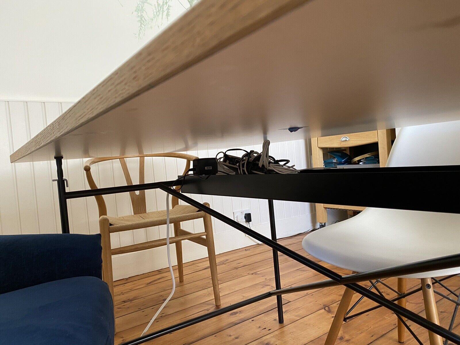 Richard Lampert Eiermann 1 Table Black Metal Cable Tray 106cm (fits 110cm Frame)