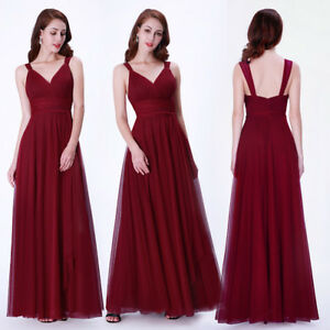 Christmas Evening Dresses Uk.Details About Uk Ever Pretty Christmas Formal A Line Bridesmaid Dress Long Party Prom Dresses