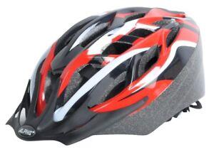 ALPHA PLUS perfusion Casque vélo 52-58 cm Rouge/Noir-GRATUIT LIVRAISON chenilles  </span>
