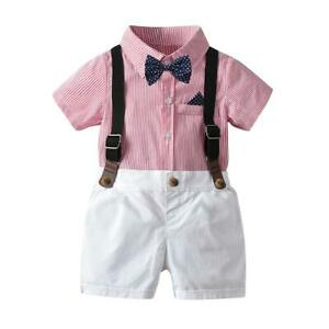 Baby-Child-Boy-Wedding-Formal-Suit-Bowtie-Gentleman-Romper-Tuxedo-Outfit-Cloth