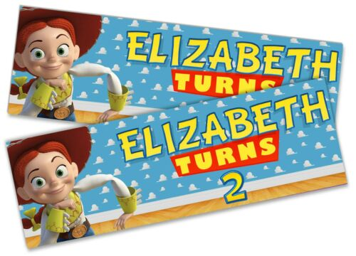 x2 Personalised Birthday Banner Toy Story Children Kid Party Decoration Poster
