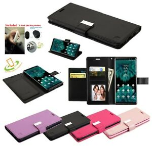 For-Samsung-Galaxy-S10-5G-Leather-Wallet-Flip-Dual-Card-Holder-Case-Cover-Pouch