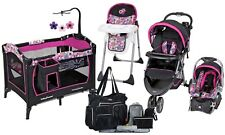 Baby Trend Stroller Car Seat Playard High Chair Diaper Bag Travel System Set