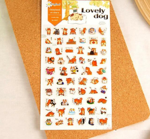 Korean Style The Lovely Dog Design Gallery Diary Decorative Pet Sticker H0186