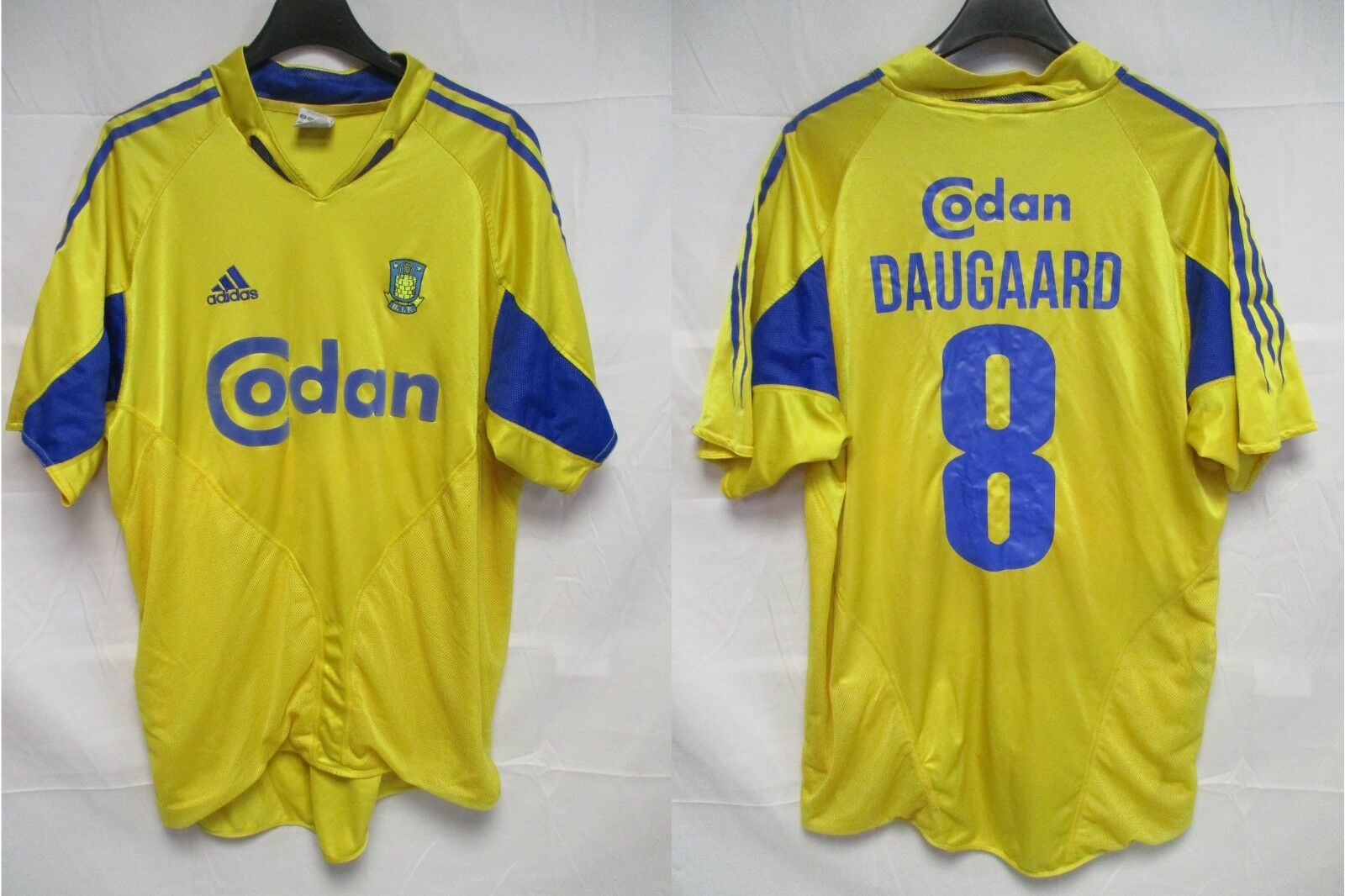 Maillot Brøndby B.I.F 2006 DAUGAARD n°8 ADIDAS vintage shirt trikot fodboldtrøje