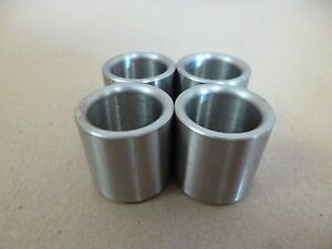 """3/4"""" ID x 1"""" OD x 1"""" TALL STAINLESS STEEL STANDOFF BUSHING SPACERS 4pc."""