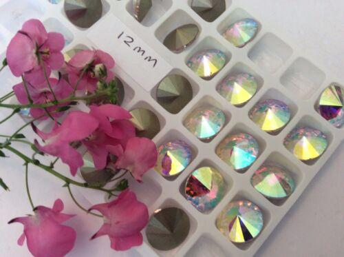Rhinestones Rivoli Crystal AB Foiled Preciosa Czech CRAFT Pack and  Size Option