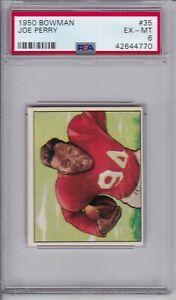 1950-Bowman-Football-35-Joe-Perry-Rookie-HOF-PSA-6