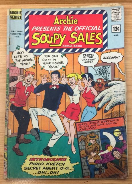 The Official Soupy Sales Comic Book 1 1965 Archie For Sale Online Ebay