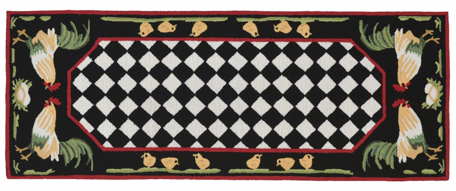Area Rugs French Country Rooster Indoor Outdoor Rug 24 X 60 Runner