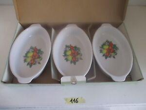 Pirofile In Ceramica.Dettagli Su Set Tris Pirofile In Ceramica Decorate Ovali Bianco Forno Frigo Cm 26