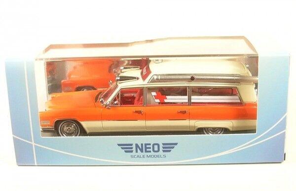Cadillac s&s High Top Ambulance (blancoo naranja) 1966