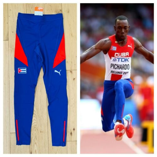 Puma Men/'s Cuba Pro Elite Issue Running Track /& Field 2015 Long Tights New