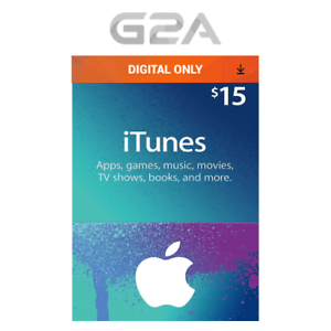 Details about iTunes Gift Card $15 USD Key - 15 Dollar US Apple Store Code  for iPhone iPad Mac