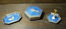 Wedgwood fairyland butterfly lustre dressing table set C1930-40