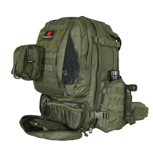 Tactical Military Advanced 3Day Combat Modular MOLLE Backpack OD OLIVE verde
