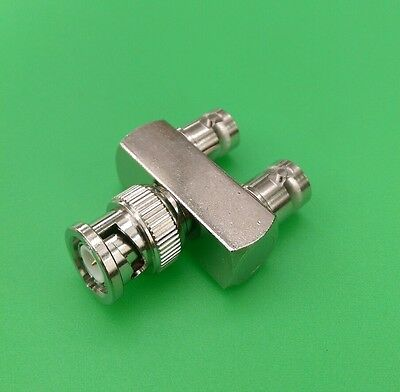 USA Seller BNC Y Type 1 Male to 2 Female Connector 2 PCS