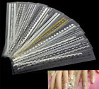 12 Mix Lace Design DIY Decal Stickers For French Nail Art Tips Decoration LM
