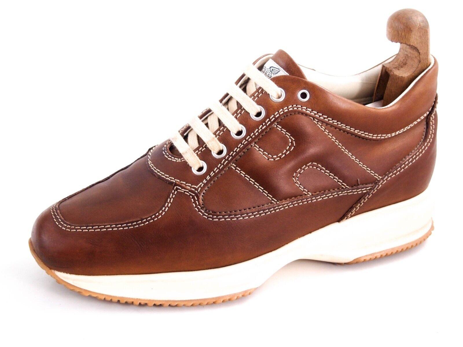 Hogan Zapatillas, Cuero Marrón, Zapato para Hombres Tamaño nos 8