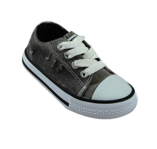 BOYS KIDS CHILDRENS SHOES TRAINERS CASUAL CANVAS TODDLER SIZE 8 8.5 9 10 11 12