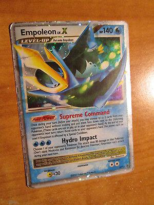 PL Pokemon EMPOLEON LV.X Card BLACK STAR PROMO DP11 Set Ultra Rare Holo PLAYED