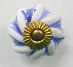 Boutons Porcelaine Céramique Artisanal Poignées Porte Tiroir Placard Armoire