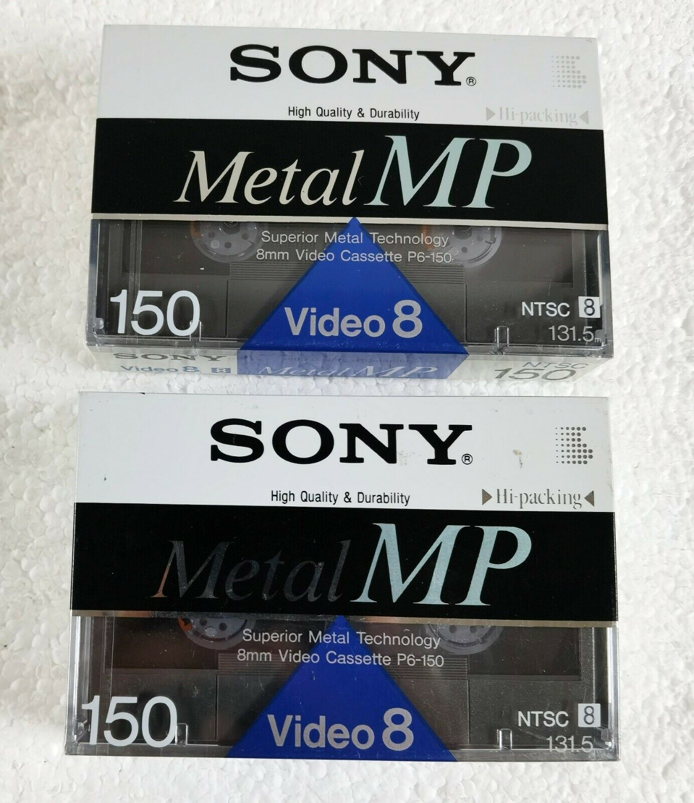 2 New Sony Metal MP 150 Video 8 NTSC 150 P6-150MP Tape - Made in Japan