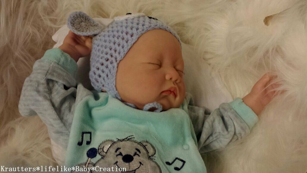 ✨ ♥Reborn Reallife Baby Boy BS von U.L Krautter Babypuppe Künstlerpuppe Puppe♥✨