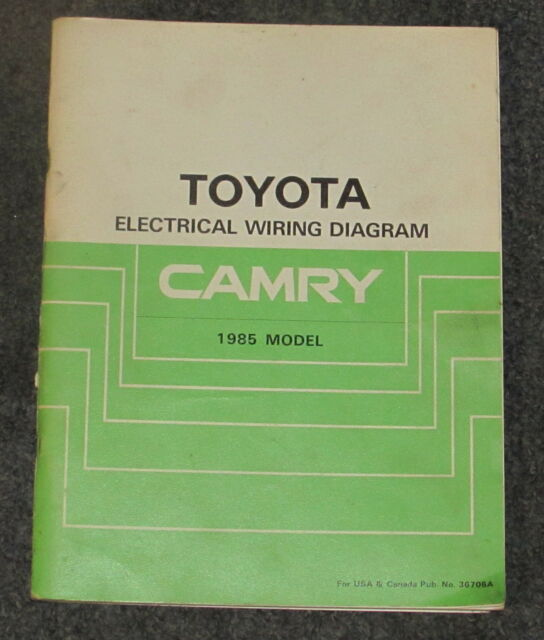 1985 Toyota Camry Electrical Wiring Diagram Service Manual
