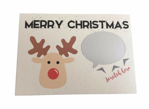 1 x Christmas Scratch Card Personalised with your message for a child or adult