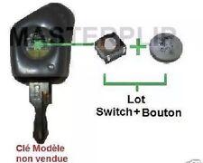 Kit réparation Bouton + Switch pour clé télécommande plip  peugeot 106 306