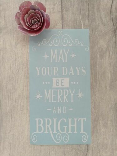 May Your Days Be Merry And Bright Christmas DIY Wine Bottle Vinyl Decal Sticker