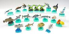 Kaiyodo Aquatales Kuroshio Current Bottle Caps lot of 17 RARE