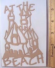 Cardstock, Paper Art, At the Beach, Sand Castle, Sand Color Paper, Scrapbooking