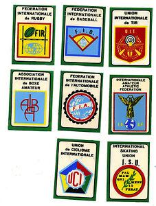 CAMPIONI DELLO SPORT PANINI 1968-69 - LOTTO DI 8 SCUDETTI RECUPERATI - Italia - CAMPIONI DELLO SPORT PANINI 1968-69 - LOTTO DI 8 SCUDETTI RECUPERATI - Italia
