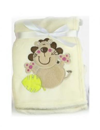 "/""First Steps/"" Luxury Soft Fleece Baby Blanket with Cute Giraffe Design 75 x..."