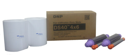 """DNP DS-40 4x6/"""" Photo Printer Paper 800 Glossy Prints DyeSub Print Kit DS40PK46"""