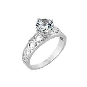 10K-Heart-Classic-White-Gold-2-8mm-Band-w-Round-Solitaire-CZ-Engagement-Ring