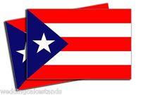 Puerto Rico 7 Flag Vinyl Decal Sticker - 2 Pack Dz967