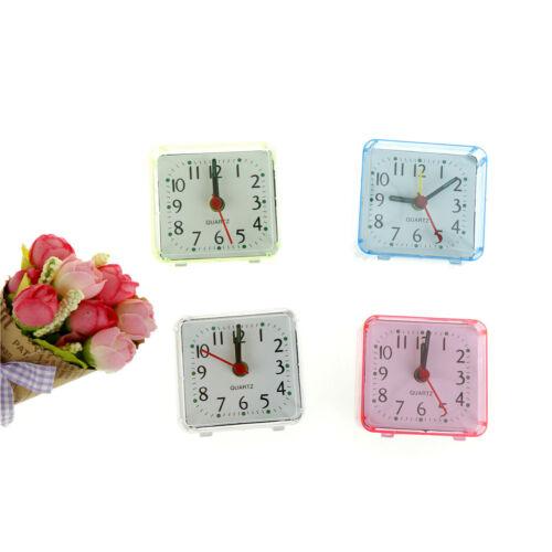 Square Small Cute Bed Compact Travel Quartz Beep Alarm Clock Cute Portable YH