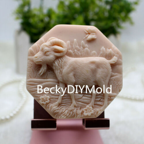 Silicone Handmade Soap Mold Crafts DIY Mould zx348 1pcs Chinese Zodiac Sheep