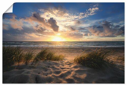 Poster Kunstdruck auf Qualitätspapier Artland Steffen Gierok Landschaften Strand