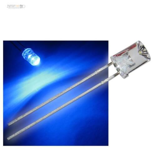 Leuchtdioden Gehäuse wasserklar blaue konkav LED 10 x LEDs 5mm concave blau