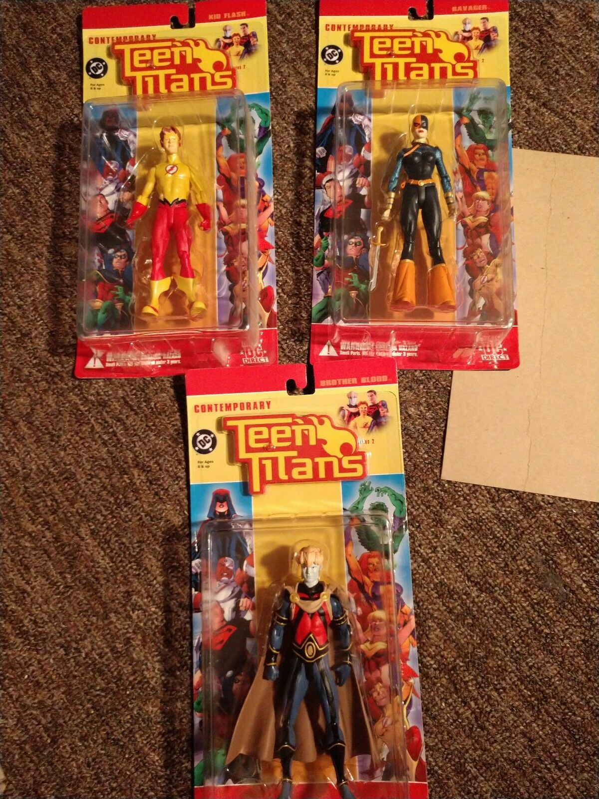 DC Direct Contemporary Teen Titans Set of 3 Brother Blood, Ravager, Kid Flash